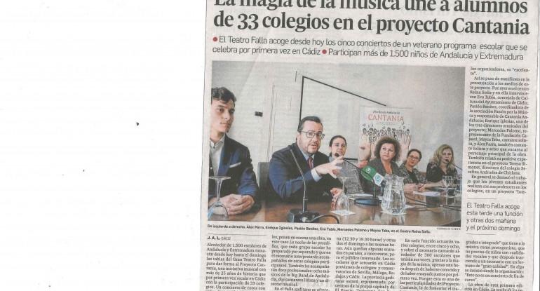 20170519 Cantania Diario de Cádiz