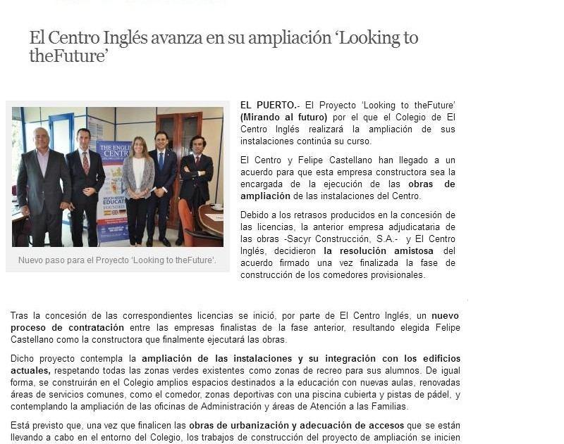 20170616 ampliación del colegio El Puerto Actualidad