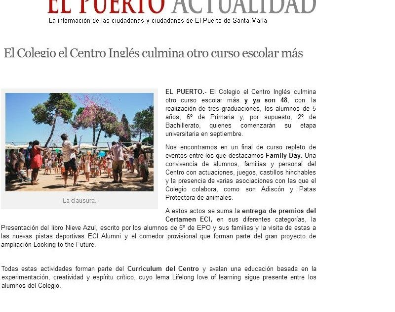 20170620 Fin de curso  El Puerto Actualidad