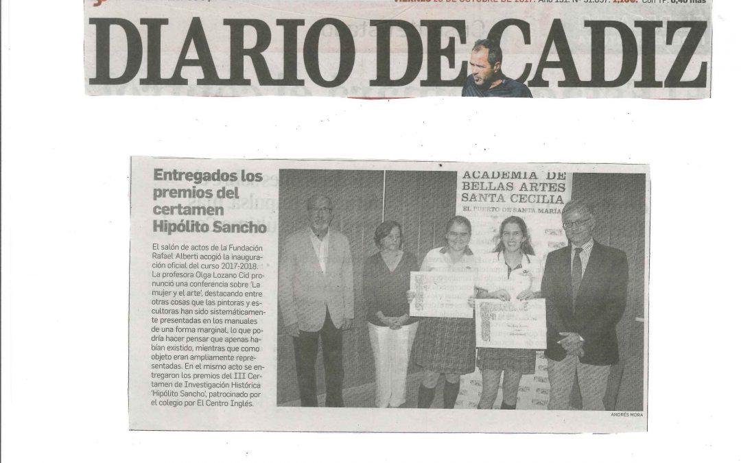 Entregados los premios del certamen Hipólito Sancho