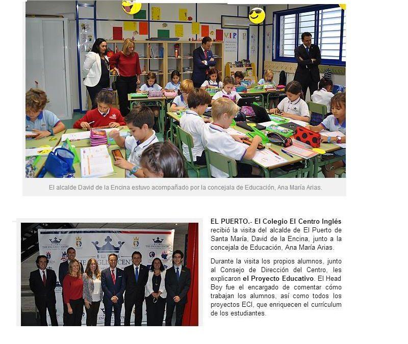 De la Encina se interesa por el proyecto educativo de El Centro Inglés