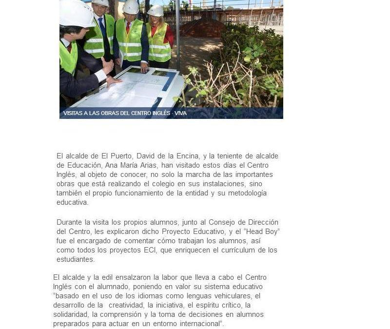 El alcalde visita las obras de ampliación y mejora de El Centro Inglés