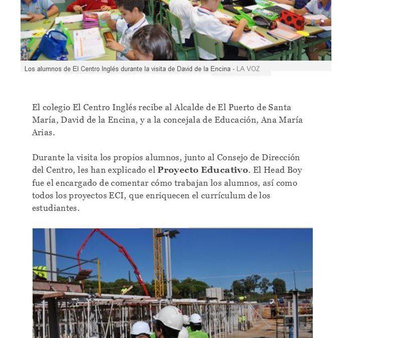 """Visita oficial a los alumnos de """"El Centro Inglés"""""""