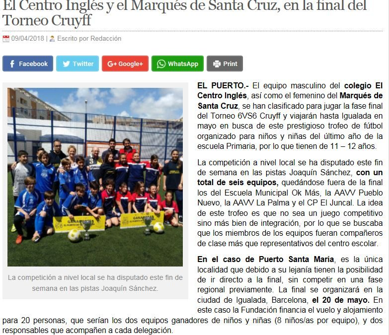 Torneo 6VS6 CRUIFF