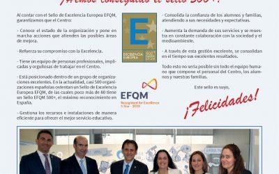 Reconocimiento sello EFQM 500+