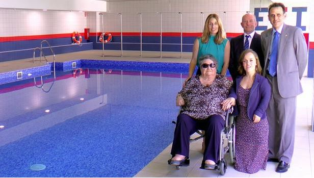 Inauguration of School swimming pool with Ellie Simmonds
