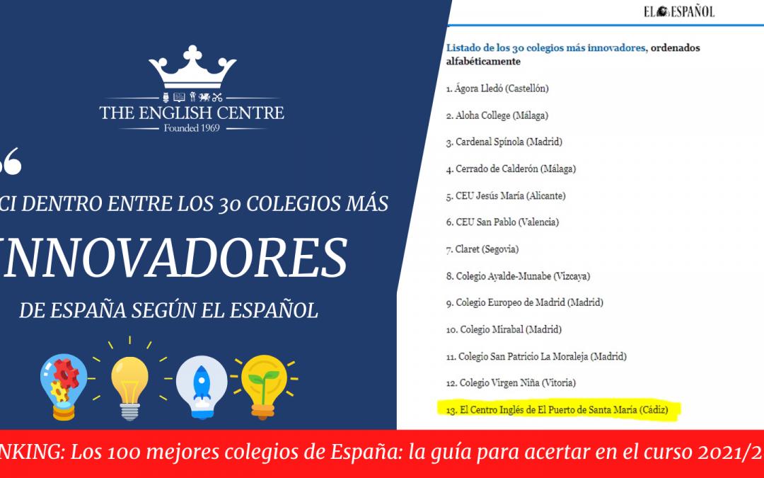 ECI – Colegio más innovador – Ranking El Español