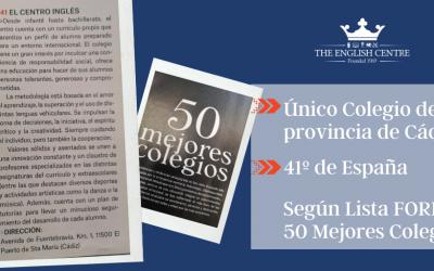 Único Colegio de Cádiz entre los 50 mejores de España