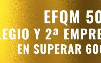 Superamos los 600 puntos y renovamos el Sello de Excelencia Europea EFQM 500+